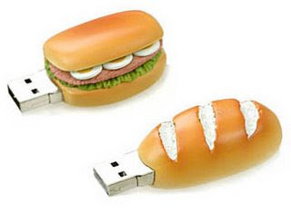 USB Flash pen drives - burger Hot dog