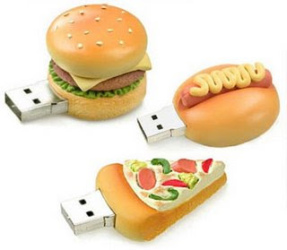 USB Flash pen drives - burger Mince Cake