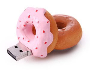 USB Flash pen drives - food Donut