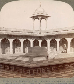 India 100 years ago: Akbar's tomb - Sikandara, India