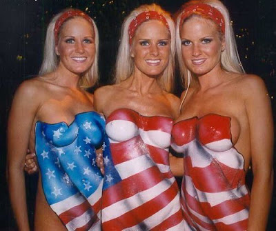 American Flag Body Art and Paintings