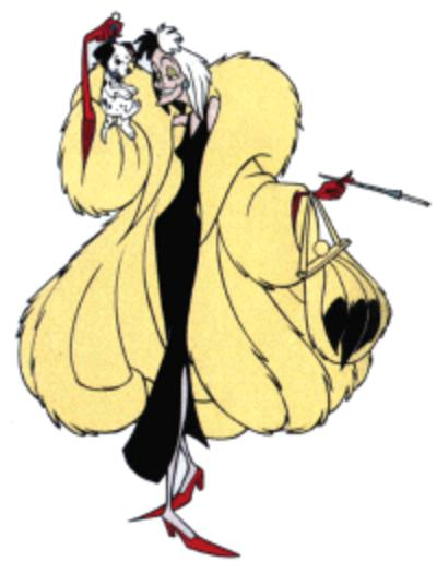 Cruella costume on