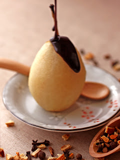 Mulled spice Poached Pears