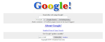 Google 1997-8 version