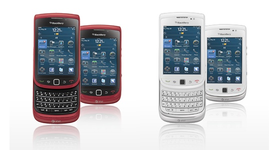 Blackberry Torch Red Color. Red and White color
