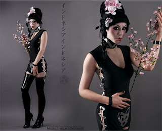Ophelia's Overdoes in asian inspired black latex photograph
