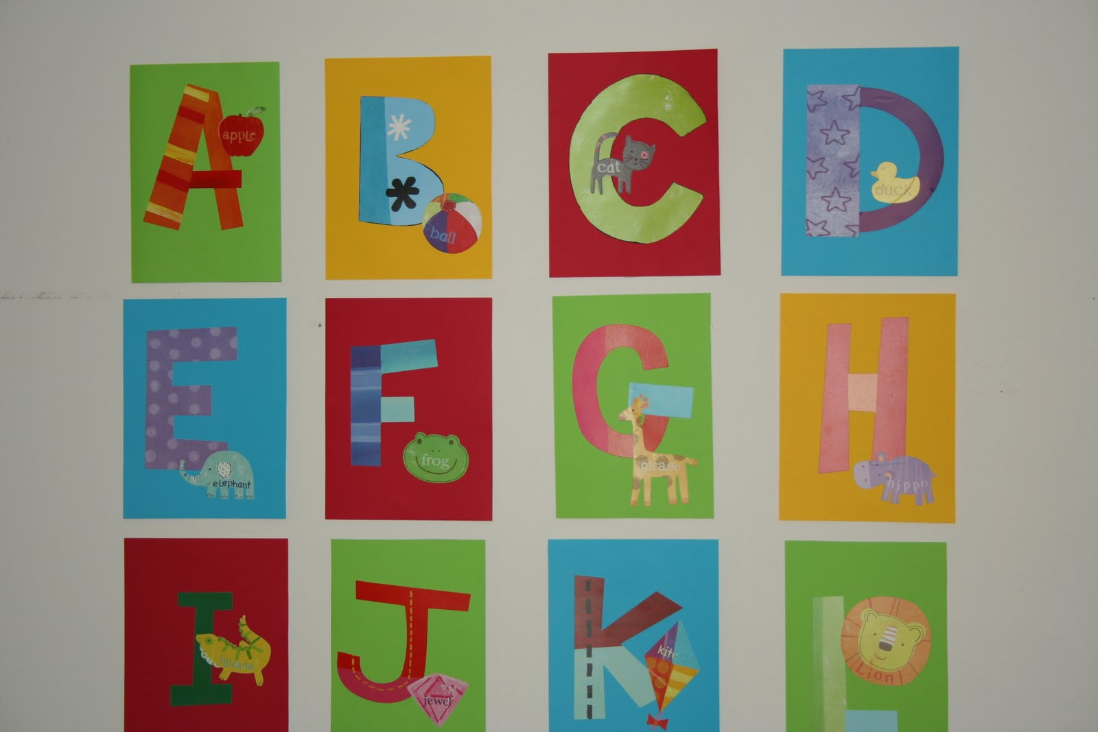 Kids decal corner project runway monday alphabet wall for Alphabet wall mural