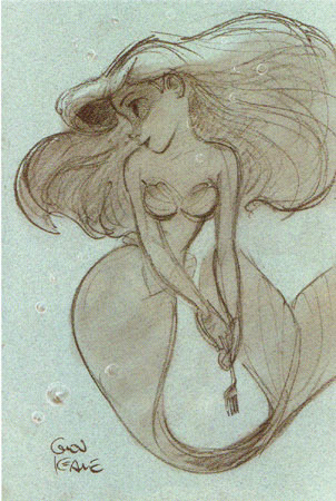 Ariel Sketch Glen Keane Ariel
