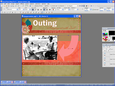 Paint Shop Pro screen shot by Maggie Lamarre for Everyday Digital Scrapbooking