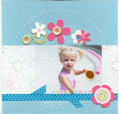 Scrapbook Layout by Beth Price, Creative Team Member demonstrating Gallon, Pint, Ounce Theory
