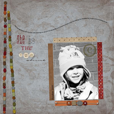 Layout created by Angela Spangler for Everyday Digital Scrapbooking