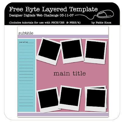 Template by Patti Knox for Designer Digitals