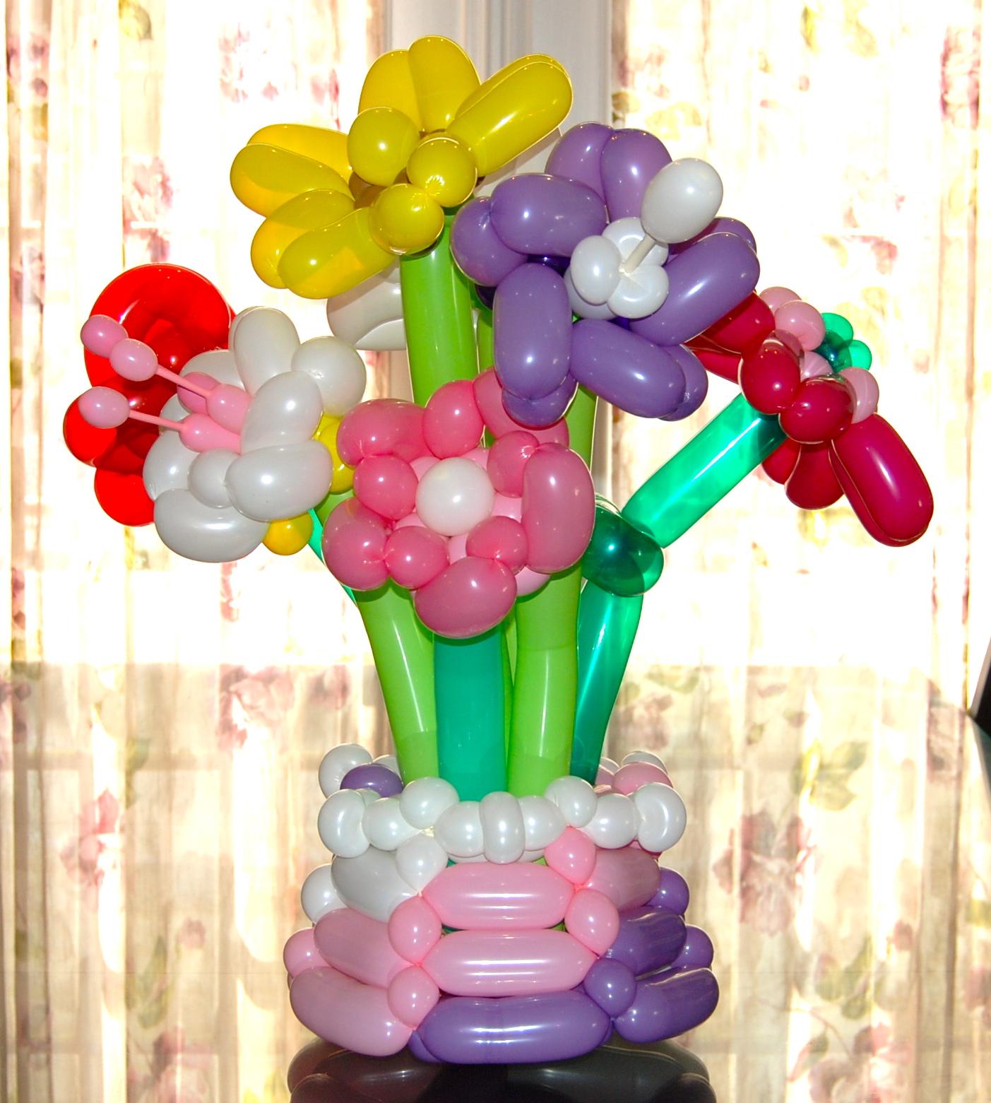Flowers Balloon Decor Twisting Glitter Tattoos