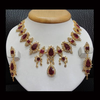 Ruby necklace designs / models