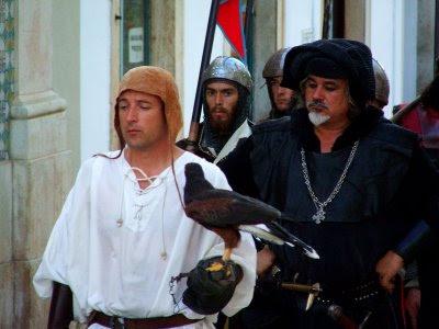 Pormenor do cortejo medieval, Silves, 2008, © António Baeta Oliveira