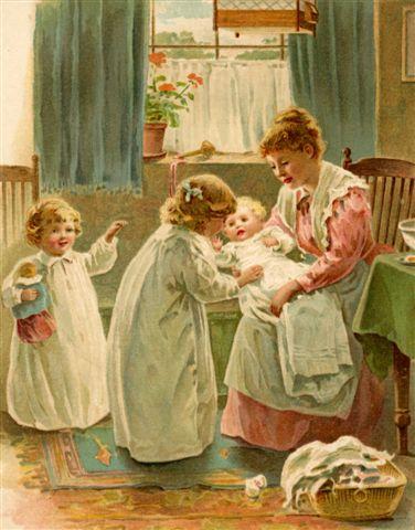 fabric+block+Scena+di+mamma+con+bambini.jpg (376×480)