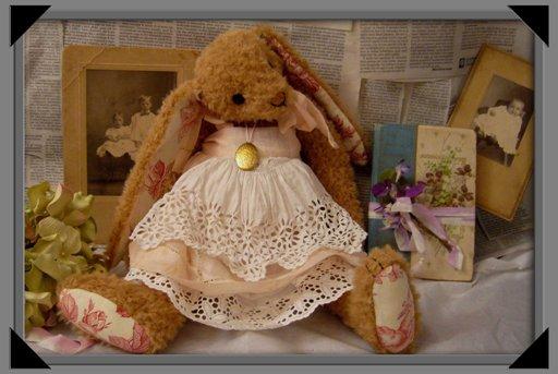 Bellissima coniglietta ooak che mi ha fatto Romy ( MARIN ORSI A VENEZIA  )