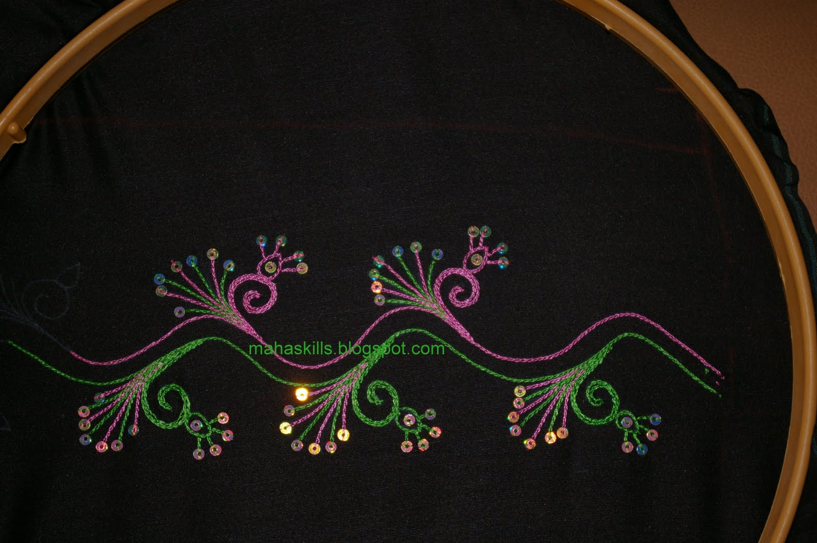 Creative Thoughts Chain Stitch And Sequins