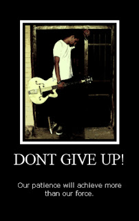Motivational Wallpaper on Patience: Don't Give up original wallpaper by Arshi
