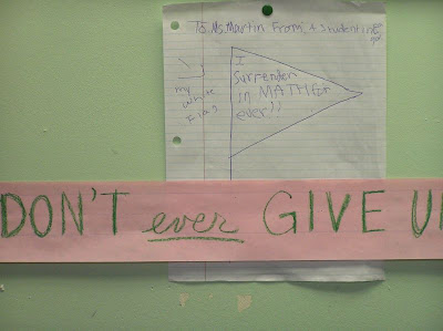 Inspirational Example on Maths: Never back down against problems