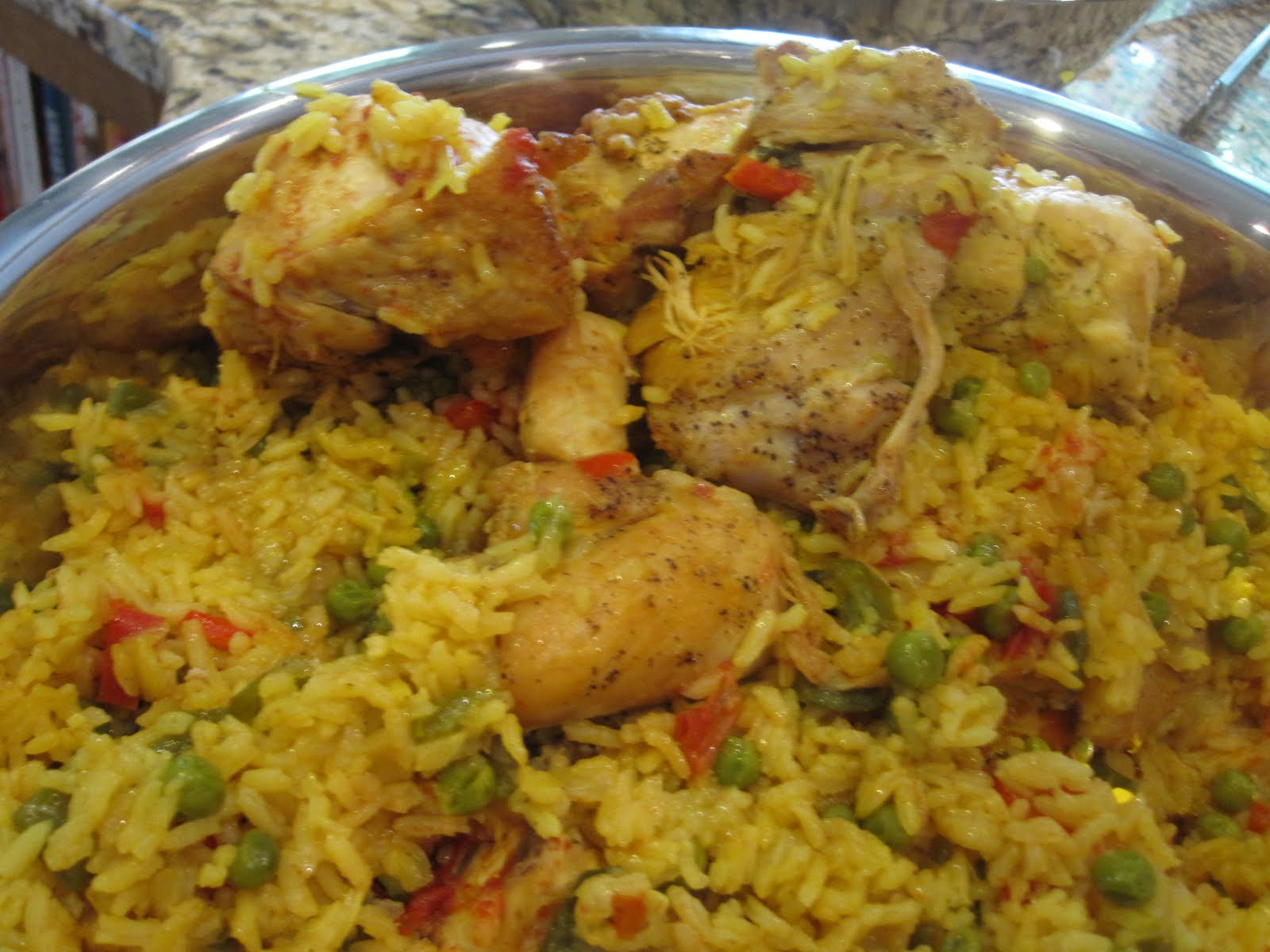 Dinner at Home: Yellow Rice and Chicken
