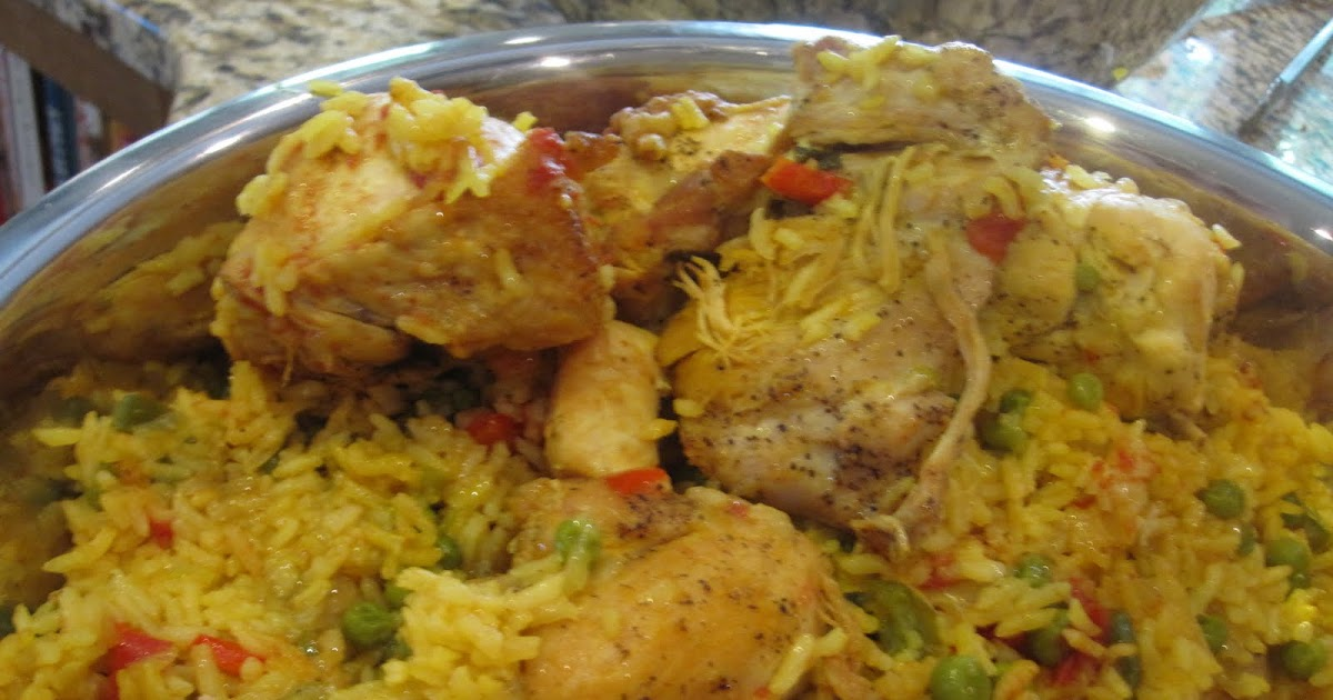 Dinner at home yellow rice and chicken - Six alternative uses of rice at home ...