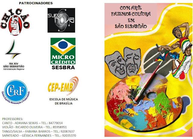 Cerimônia de encerramento do Instituto de Arte e Cultura de São Sebastião - IACSS/SESBRA