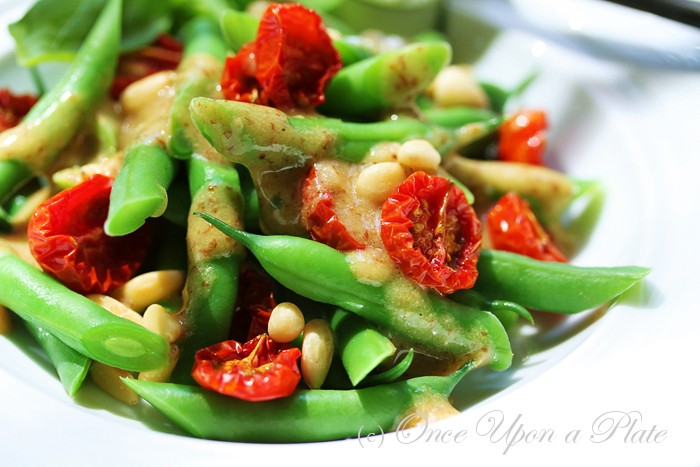 ... Upon a Plate The Recipes: Green Bean and Roasted Cherry Tomato Salad
