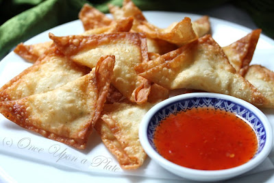 Once Upon a Plate The Recipes: Cheater's Crab or Smoked Salmon Rangoon