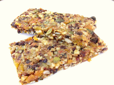 Enlightened Cooking: Fruit, Seed, & Nut Power Bars (no added sugar)