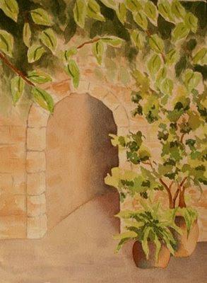 Nancy Goldman Art Greek Walkway