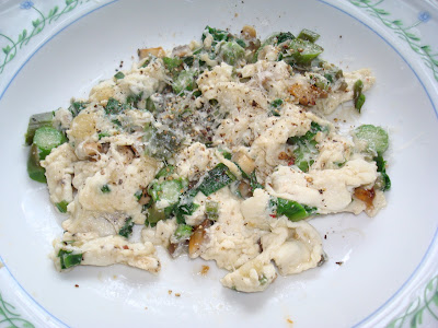 ... scrambled eggs scrambled eggs with ramps asparagus and morel mushrooms