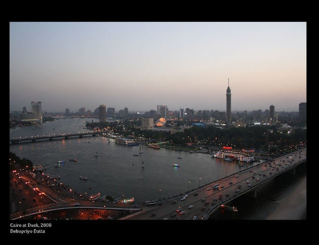 Dusk on the Nile, Cairo from the Ramses Hilton