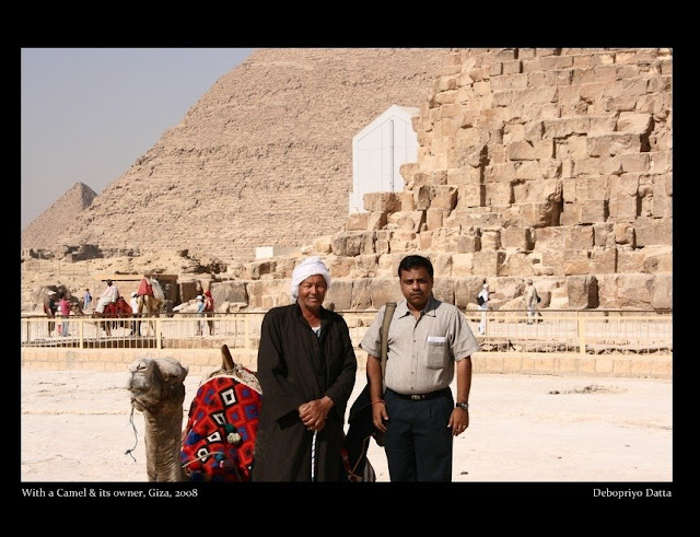 Me next to the Pyramids