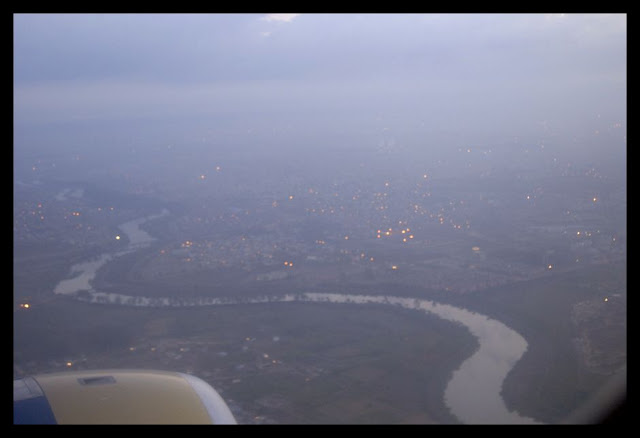 Descending into New Delhi Airport... about 5.30 AM