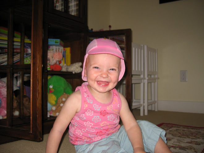 Claire and her swim hat