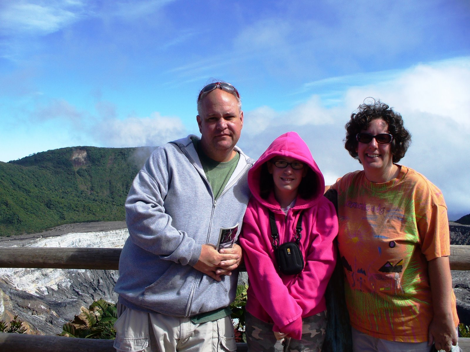 Jones Family visiting Poas Volcano