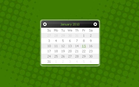 Datepicker and Calendar Eightysix