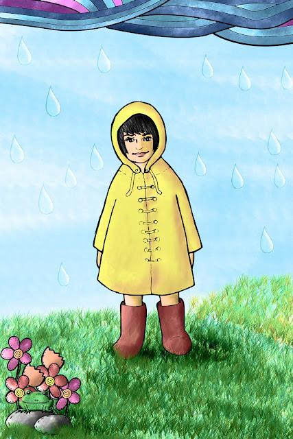 jas hujan kuning
