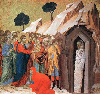 The Raising of Lazarus by Duccio