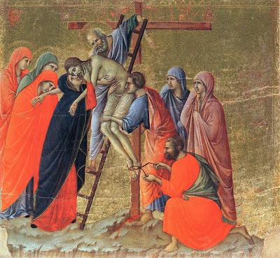 Deposition. Duccio The Maesta