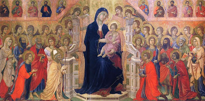 The Virgin Enthroned in Majesty by Duccio (The Maestà)