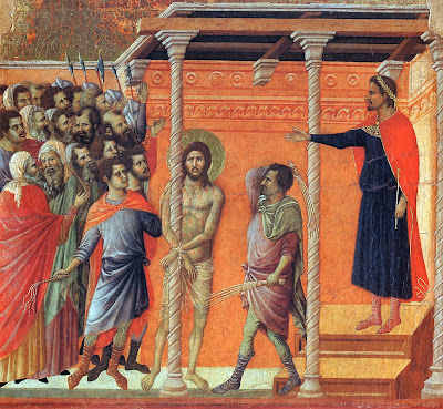 The Flagellation by Duccio The Maestà