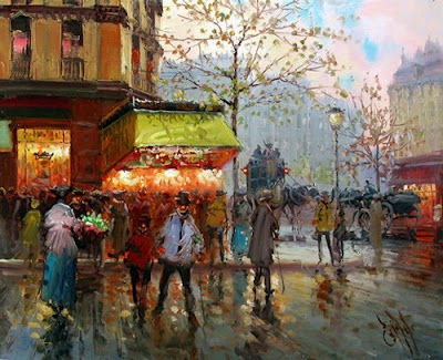 Cityscape Painting by Spanish artist Emilio Payes