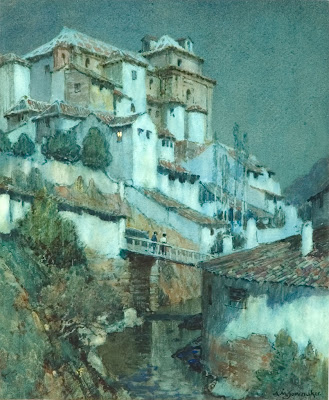 Watercolor by Albert Moulton Foweraker British Painter