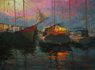 Yacht and Boat Painting by Russian Artist Oleg Trofimoff