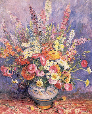 Max Kuehne. Floral Bouquet, 1940s