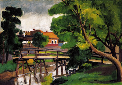 Landscape Painting by Geza Voros Hungarian Artist