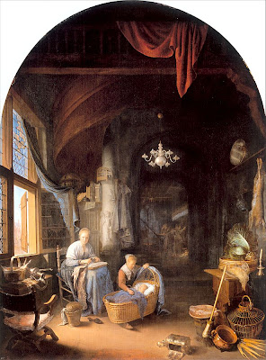 Painting by Gerrit Dou