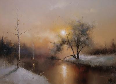 Winter Landscapes by Russian Artist Igor Medvedev